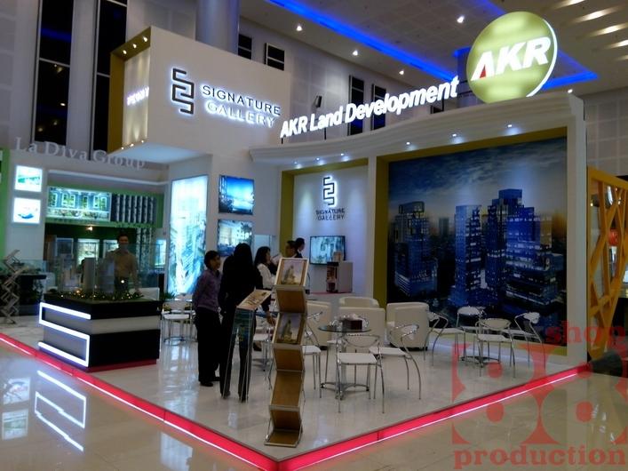 Property Exhibition Booth : Desain booth properti stand akr land di surabaya property