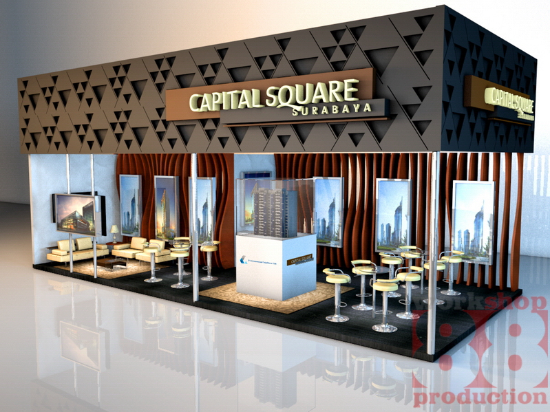 Property Exhibition Booth : Contoh desain booth stand property capital square spex