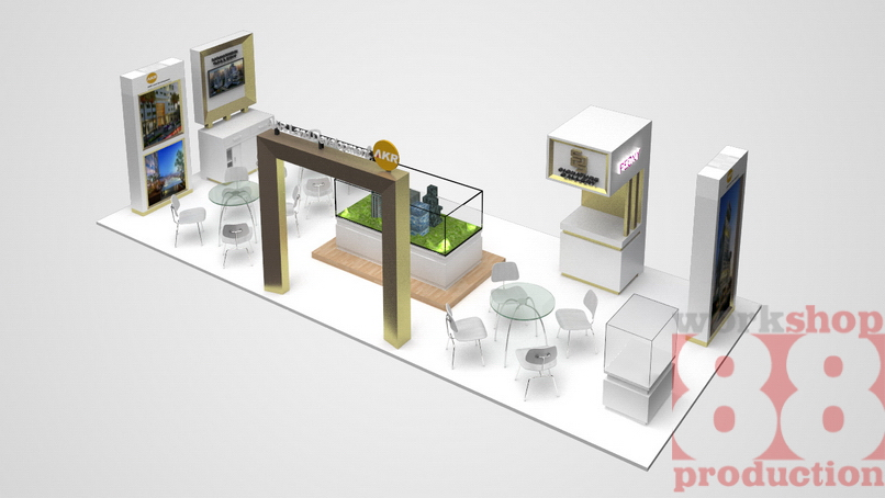 Property Exhibition Booth : Contoh desain booth pameran property akr land di mall